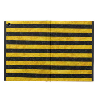 STRIPES2 BLACK MARBLE & YELLOW MARBLE COVER FOR iPad AIR