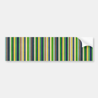 stripes34 FOREST GREEN YELLOW LIME WHITE CANDYCANE Bumper Sticker