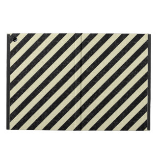 STRIPES3 BLACK MARBLE & BEIGE LINEN CASE FOR iPad AIR