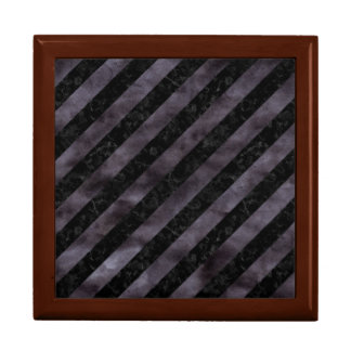 STRIPES3 BLACK MARBLE & BLACK WATERCOLOR GIFT BOX