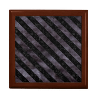 STRIPES3 BLACK MARBLE & BLACK WATERCOLOR (R) GIFT BOX