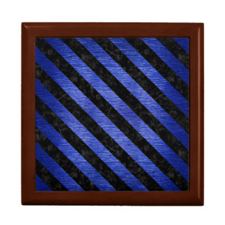 STRIPES3 BLACK MARBLE & BLUE BRUSHED METAL (R) GIFT BOX