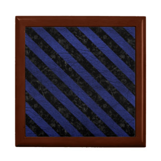 STRIPES3 BLACK MARBLE & BLUE LEATHER (R) GIFT BOX