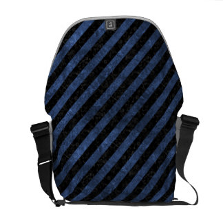 STRIPES3 BLACK MARBLE & BLUE STONE COURIER BAGS