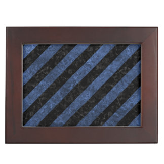 STRIPES3 BLACK MARBLE & BLUE STONE KEEPSAKE BOX