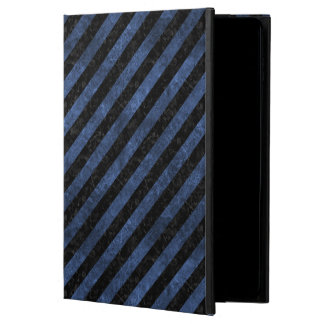 STRIPES3 BLACK MARBLE & BLUE STONE POWIS iPad AIR 2 CASE