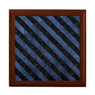 STRIPES3 BLACK MARBLE & BLUE STONE (R) GIFT BOX