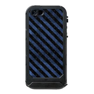 STRIPES3 BLACK MARBLE & BLUE STONE (R) INCIPIO ATLAS ID™ iPhone 5 CASE