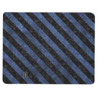 STRIPES3 BLACK MARBLE & BLUE STONE (R) JOURNAL