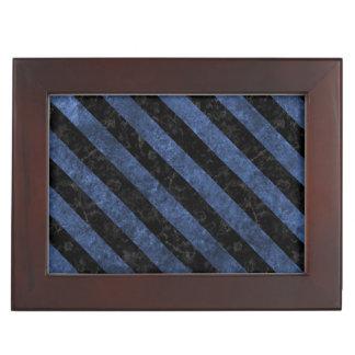 STRIPES3 BLACK MARBLE & BLUE STONE (R) KEEPSAKE BOX