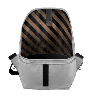 STRIPES3 BLACK MARBLE & BRONZE METAL (R) COMMUTER BAGS