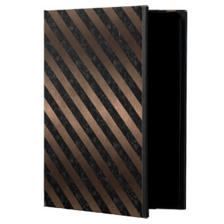 STRIPES3 BLACK MARBLE & BRONZE METAL (R) POWIS iPad AIR 2 CASE