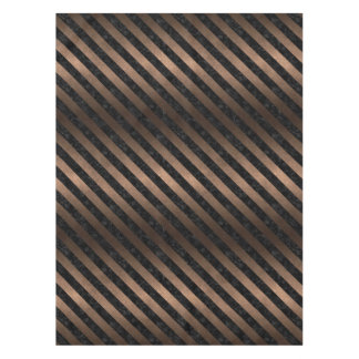 STRIPES3 BLACK MARBLE & BRONZE METAL (R) TABLECLOTH