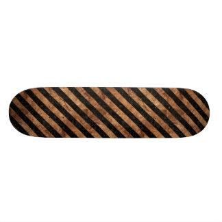 STRIPES3 BLACK MARBLE & BROWN STONE SKATE BOARD DECKS