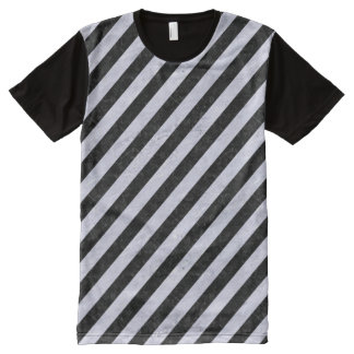 STRIPES3 BLACK MARBLE & WHITE MARBLE All-Over PRINT T-Shirt