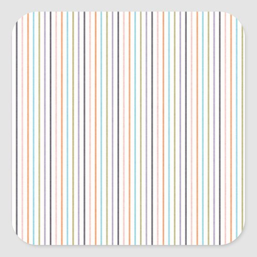 STRIPES53 COLOURFUL GRUNGE STRIPES PATTERN BACKGRO SQUARE STICKERS