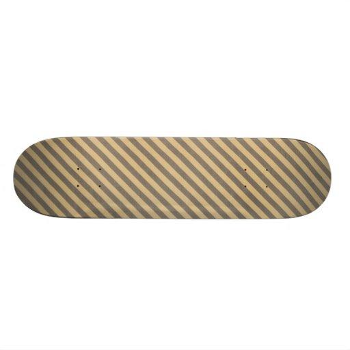 stripes63-tan STRIPES TAN BROWN BUSINESS PATTERNS Skateboard Decks