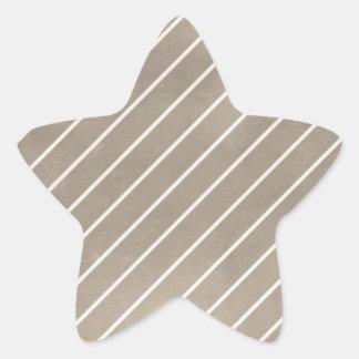 stripes65-tan STRIPES SHINY TAN GREY GRAY MODERN B Star Sticker
