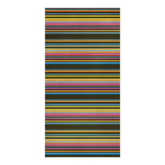STRIPES66 COLORFUL STRIPES ORANGES CORAL YELLOW PU PICTURE CARD