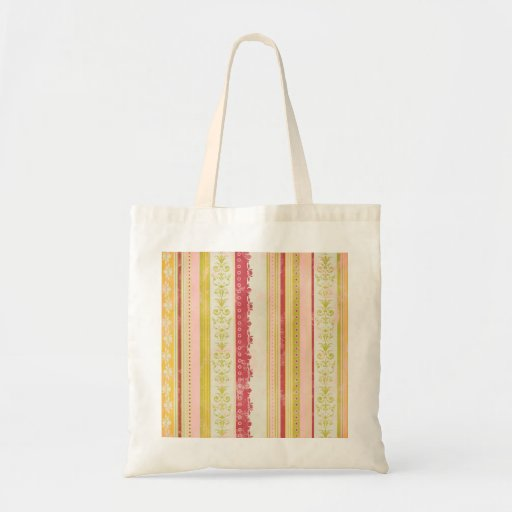 stripes98 DECORATIVE COUNTRY SCROLL STYLE STRIPES Bags