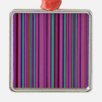 stripes-1295 Silver-Colored square decoration