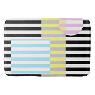 stripes and colours bath mat