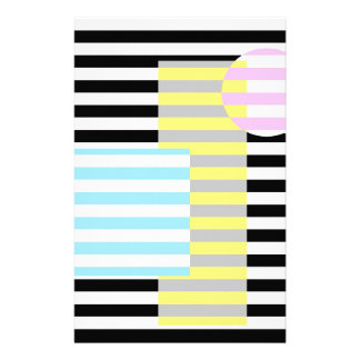 stripes and colours stationery