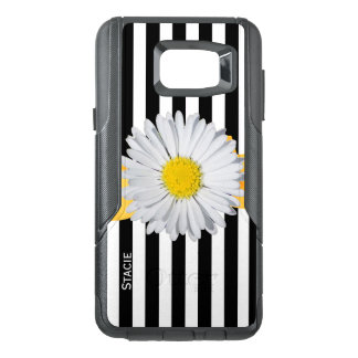 Stripes and Daisy Otterbox Samsung Note 5 Case