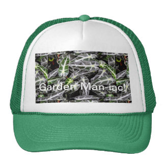 Stripes and Droplets Glossy Ornamental Plant Trucker Hat