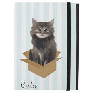Stripes and Kitten Custom iPad Pro Case