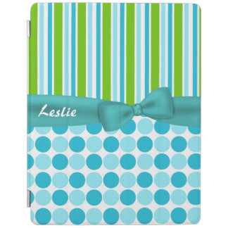 Stripes and Polka Dots Custom iPad Cover