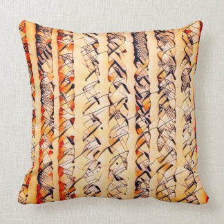 STRIPES AND SQUIGGLES CUSHION