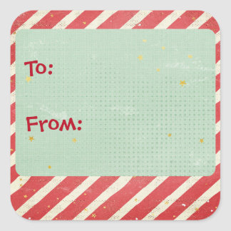 Stripes and Stars Holiday Gift Tag