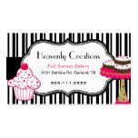 Stripes and Sweets Bakery Business Card
