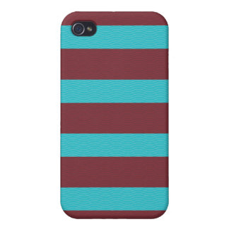stripes and texture red blue iPhone 4/4S cover