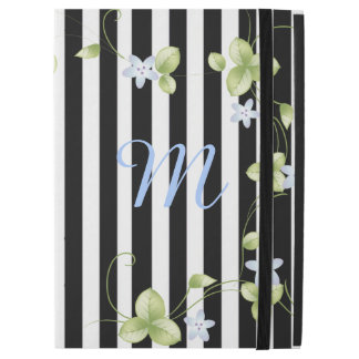 Stripes and Vines Monogrammed iPad Pro Case