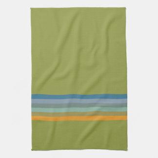Stripes Apple Yellow Blue Violet Olive Green Aqua Tea Towel