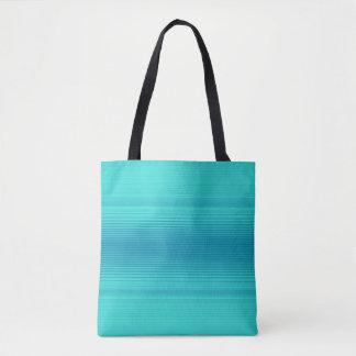 Stripes - Aqua Turquoise Cyan Blue Tote Bag