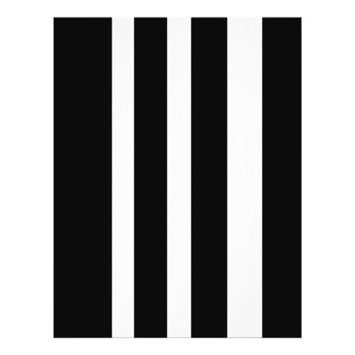 stripes b& w custom flyer