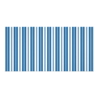 Stripes Background Blue and White Photo Card