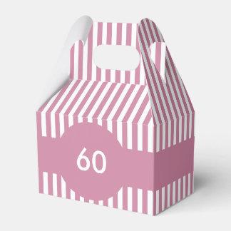 Stripes Bespoke Design Wedding Favour Boxes