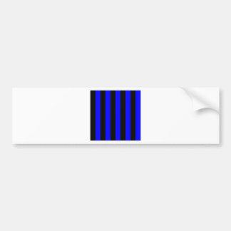 Stripes - Black and Blue Bumper Stickers