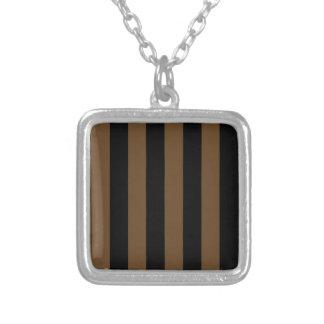 Stripes - Black and Dark Brown Custom Jewelry