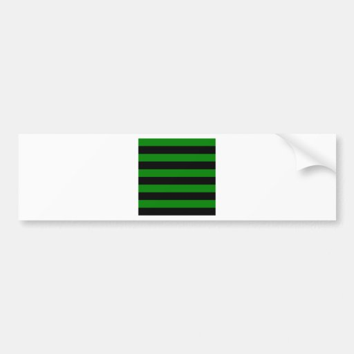 Stripes - Black and Green Bumper Stickers