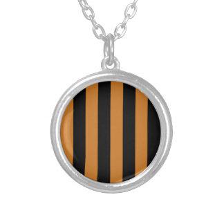 Stripes - Black and Ochre Pendants