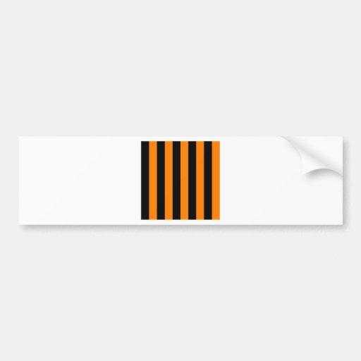 Stripes - Black and Orange Bumper Sticker