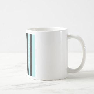 Stripes - Black and Pale Blue Coffee Mug