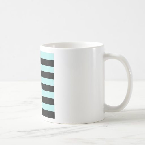 Stripes - Black and Pale Blue Mugs