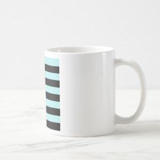 Stripes - Black and Pale Blue Mugs