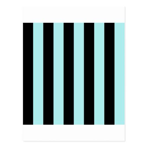 Stripes - Black and Pale Blue Postcards